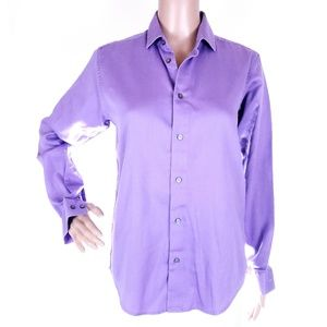 Calvin Klein Button Shirt Top Sateen 16 run small